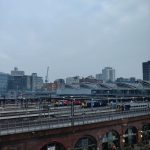 Cloudy photo of Leeds City Train Station