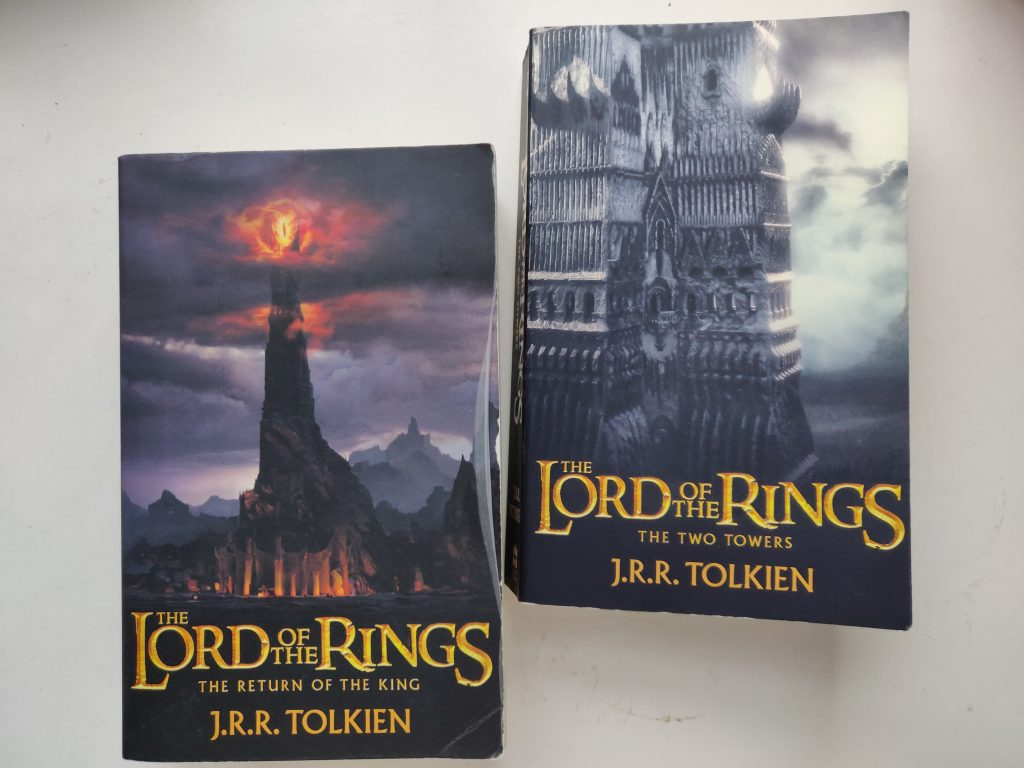 Lord of the Rings Two Towers and The Return of the King Covers
