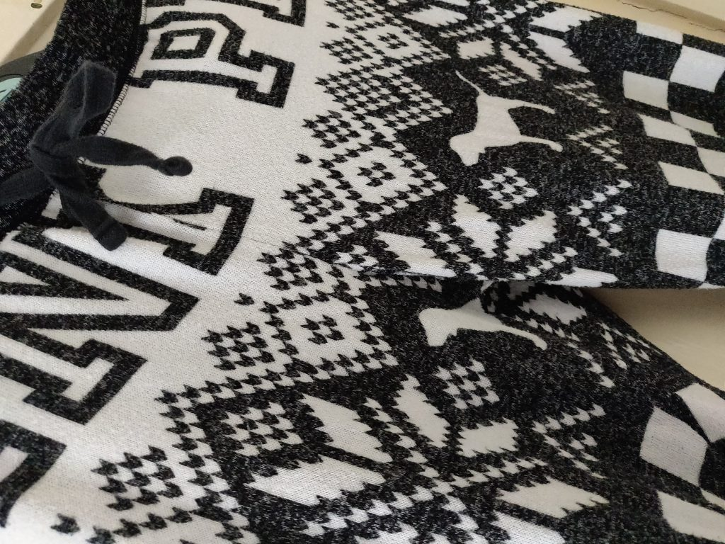 Photo of Victoria's Secret PJ Leggings (Black and White with Trademark Dog)
